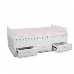 "The Yellow Door Joey n Me  Chaise White Trundle Bed ""Joey n Me "" Chaise White Trundle Bed"