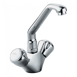 Benelave Sink Mixer With Raised J Spout Table Mounted