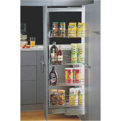Inox Mini Tall Unit with 4 Baskets