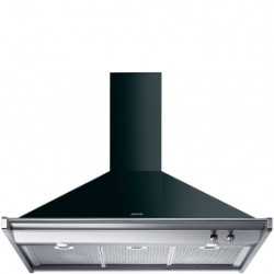 Smeg Wall Decorative Hood, 100 Cm, Classica, Black, Energy Rating A