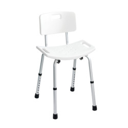 Wenko Bath Stool With Back Rest Secura