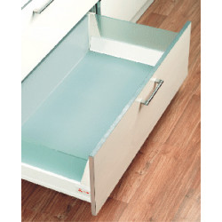 Inox Toughened Glass Side Panel for Elite Drawer w/Fittings