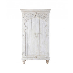 SNG Solid Wood Designer Door White Cupboard India