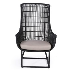 Abaca  Elmo Occassional Chair Black