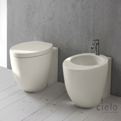 Cielo Back to Wall Wc and Bidet Colored Pomice Back to wall wc and bidet colored Pomice