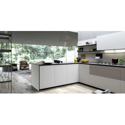 Valcucine Forma Mentis With Angel Skin Door Finishing