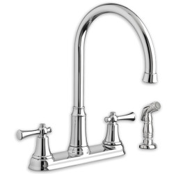 Portsmouth 2-Handle High-Arc Kitchen Faucet with Side Spray
