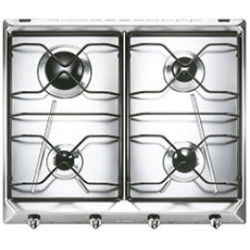 Smeg Hob, 60cm, Gas, Contemporanea, Stainless Steel Hob, 60 Cm, Gas, Contemporanea, Stainless Steel