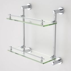 Claytan Cosmo Glass Shelf – Double