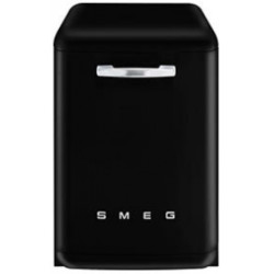 Smeg Dishwasher, Freestanding, Black, 13 Place Settings, 60 Cm, 50's Retro Style, Energy Rating A+++