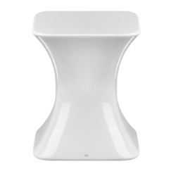 Gessi Bright White Gres Stool stool