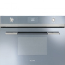 Smeg Electric Combination Microwave Oven, Vapor Clean, Compact 45 Cm, Linea, Silver Glass