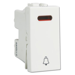Havells 6Ax Bell Push with Ind. Switch IMAGE
