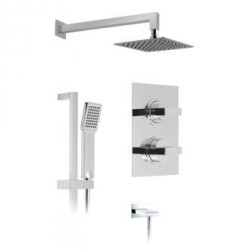 Notion 2 Outlet Thermostatic Shower Package Inc. Slide Rail Shower Kit