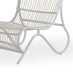 Abaca  Jenson Outdoor Occasional Chair In White