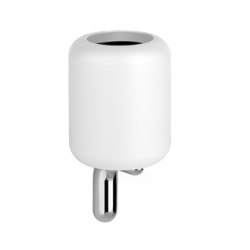 Gessi Wall-Mounted Tumbler Holder With White Gres  Glass tumbler holder