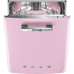 Smeg Dishwasher, Built In,Pink,13 Place Settings, 60 Cm ,50's Retro Style, Energy Rating A+++