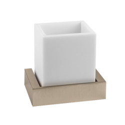 Gessi Wall-mounted Tumbler Holder White tumbler holder rettangolo 1