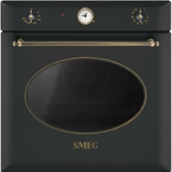 Smeg Va Electric Thermoventilated Oven, Vapor Clean, 60 Cm, Coloniale, Anthracite, Old Brass Finishing, Energy Rating A