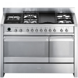 Smeg A3XU6 Cooker, 120x60 Cm, Opera, Stainless Steel, Gas Hobs, Energy Rating Bb