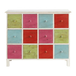 SNG Solid Wood Rainbow Colorful 12 Drawer Chest