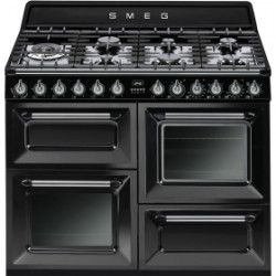 Smeg TR4110BL1 Cooker, 110x60 Cm, Victoria, Black, Gas Hobs, Energy Rating A