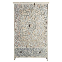 SNG Solid Wood Deeply Carved Wardrobe with Drawer