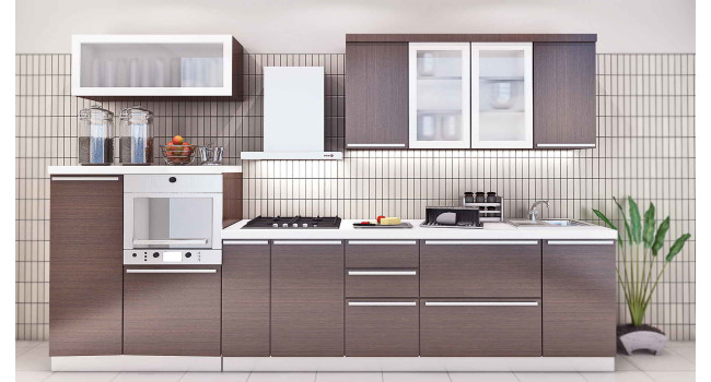 Small Straight Kitchen Design. Comparatively great to have such design for a small sized kitchen as it  doesn t occupy much area Modular Kitchen Design India Wishkarma com