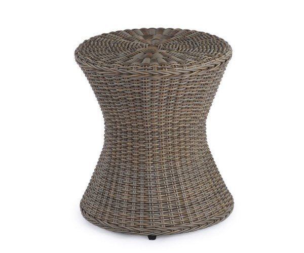 Abaca  All Weather Polypeel Congo Drum Style Stool