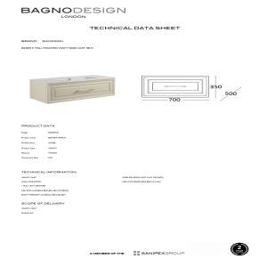 Bagno Design Wall Mounted Vanity Unit
