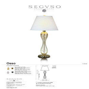 Seguso Osso Table Lamp light