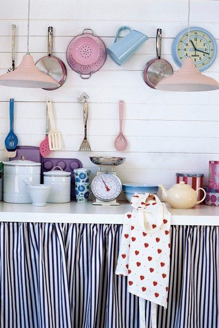 Kitchen Shelf Curtains