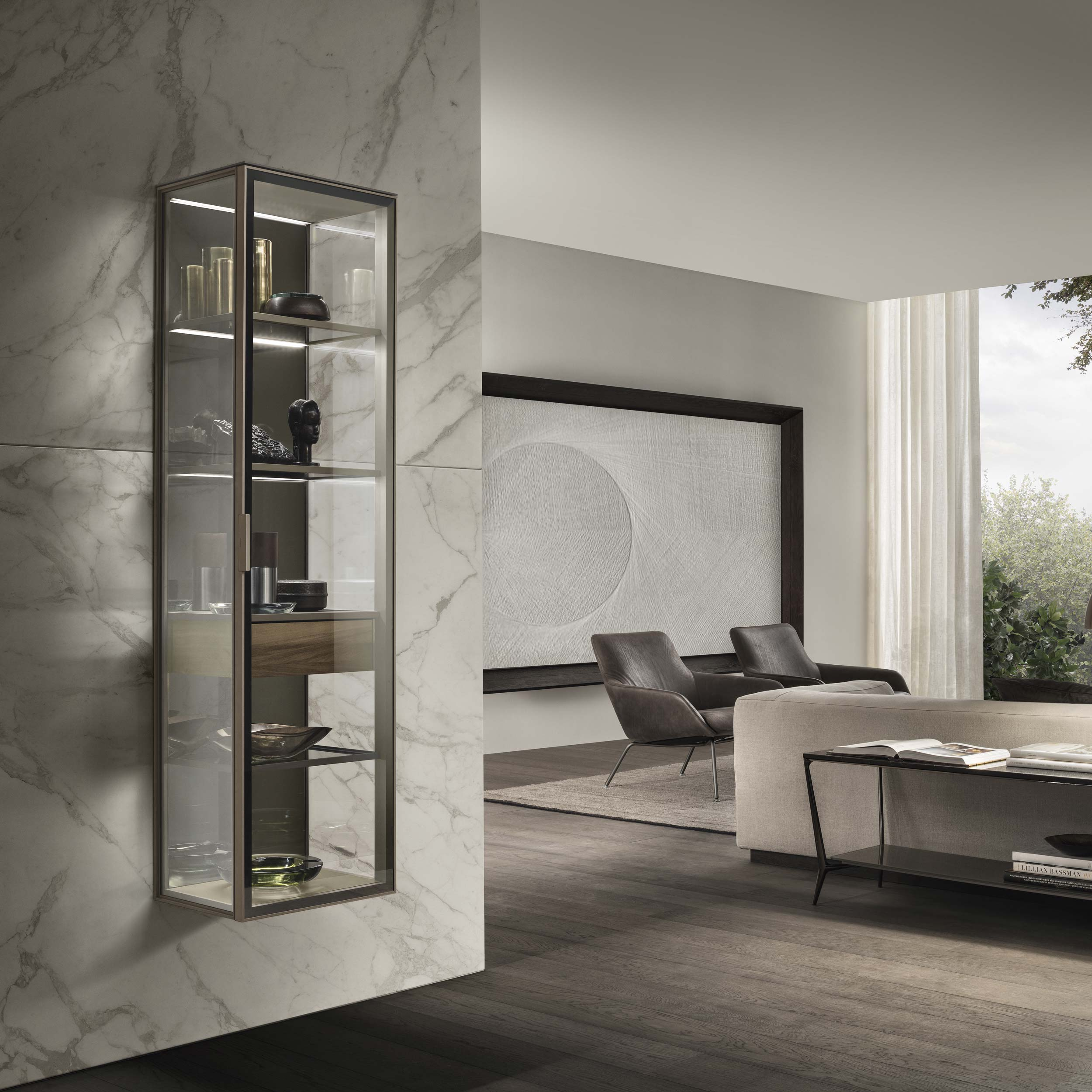 Alambra Suspended Cabinet with Hinged Door