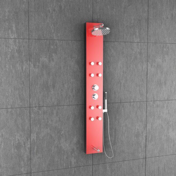 Olive Red Shower Panel