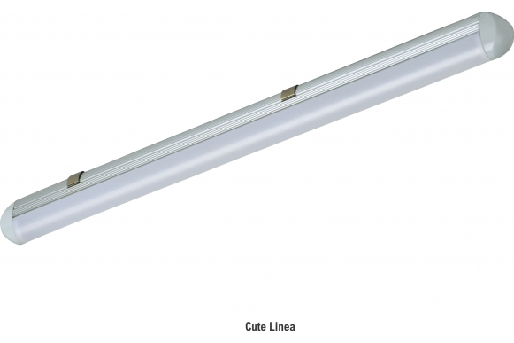 LED luminaire comprises of aluminium extruded channel in thermally conductive material with two colour decorative plastic end cap, high translucent frosted diffuser is used to get glare free smooth light distribution