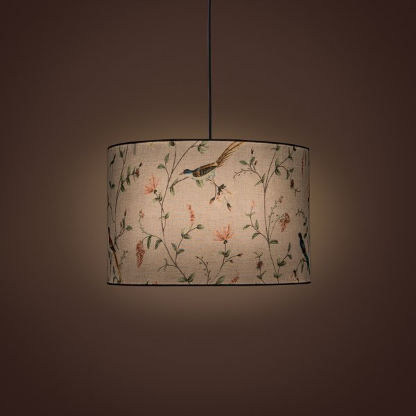 Villa Cylindrical Pendant Lamp - A Persian Garden Dawn