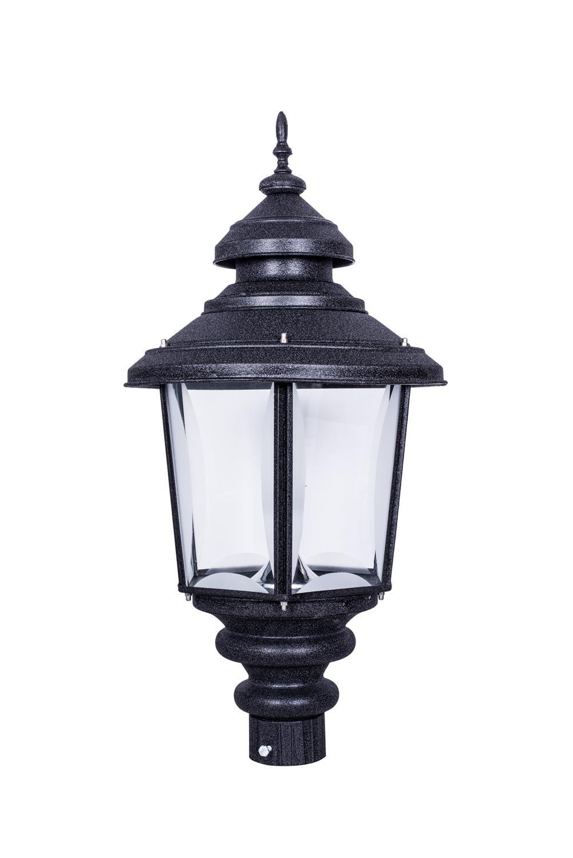 Crinkle Black Large Exterior Gate Light