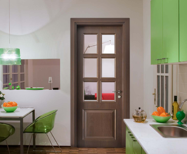 Glazed french doors