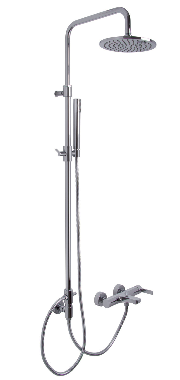 F3534/2 Exposed Bath Mixer with Shower Column, Showerhead And Shower Set