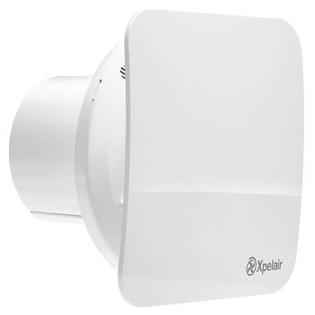 """Simply Silent Contour 4"""" 100mm Square Dc Constant Volume Bathroom Fan"""