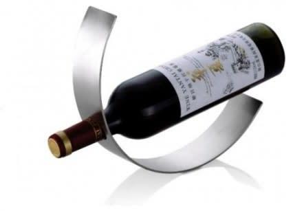 Wine Bottle Holder Crescent Shape