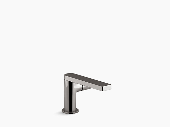 Composed Single-control side mount lavatory faucet with drain