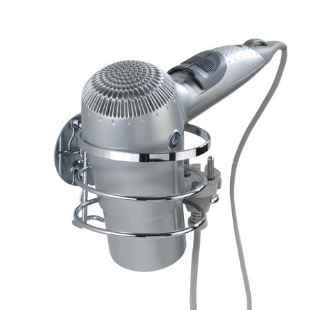 Turbo-Loc Stainless Steel Hair Dryer Holder