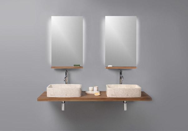 Mirror & Vanity Counter Set