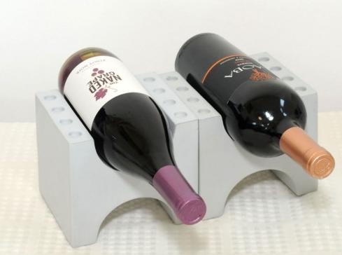 Wine Holder Set Brick Cool Grey