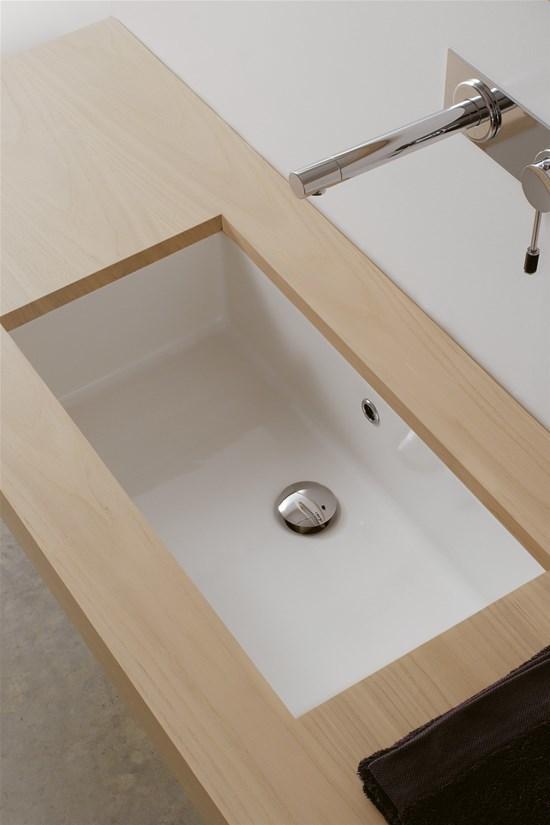 Under-top washbasin Miky 50