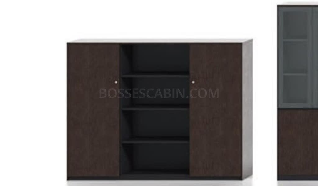 Veneer 3 Door Office Cabinet & Book Shelf - Bcsv-906