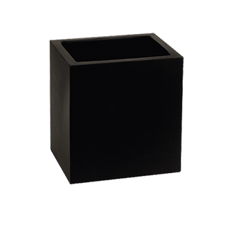 Black Wall-mounted Glass Holder