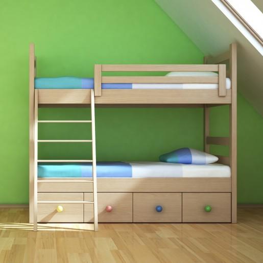Kelsey Natural Color Bunk Bed