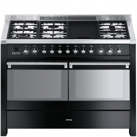 A4BL-8 Cooker, 120x60 Cm, Opera,Black, Gas Hobs, Energy Rating A